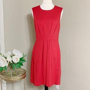 Trina Turk Red Lace Trim Sleeveless A-Line Dress
